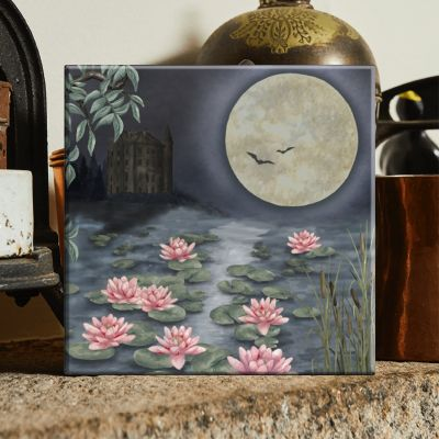 The Moonlit Lily Garden
