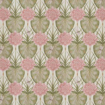 Lily Garden Upholstery Fabric - Cream