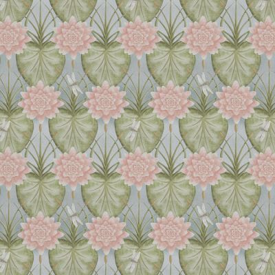 Lily Garden Eau De Nil - Upholstery Fabric