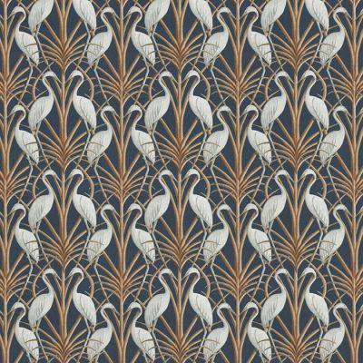 Nouveau Heron Navy Fabric