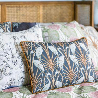 Nouveau Heron Rectangle Cushion