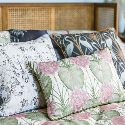 Lily Garden Rectangle Cushion