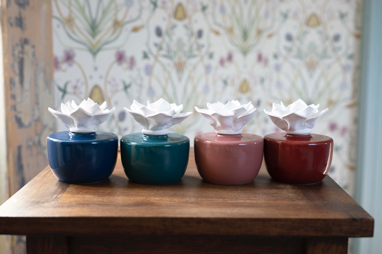 Selection of Ceramic Candles from the Sainsbury's fragrance range